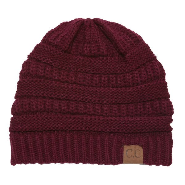 22c30a4fc Shop C.C Women's Thick Soft Knit Beanie Cap Hat - Free Shipping On ...