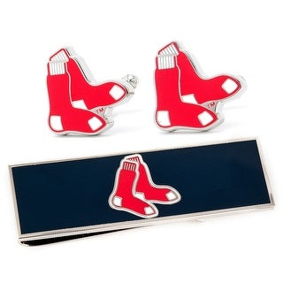 Boston Red Sox Cufflinks and Money Clip Gift Set MLB