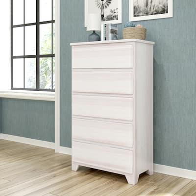Max & Lily Farmhouse 5 Drawer Dresser