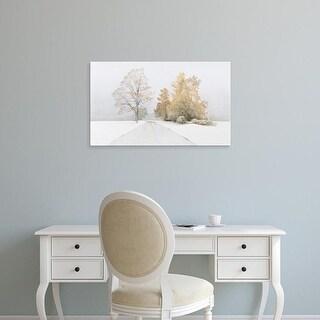 Easy Art Prints Alexander Volkov's 'Autumn Snowfall' Premium Canvas Art