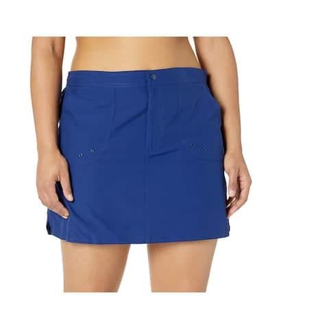 Maxine Of Hollywood Womens Swimwear Blue Size 18W Plus Bottoms Skirt