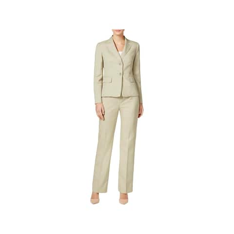 Le Suit Womens Petites Pant Suit 2-Button Blazer 2 PC