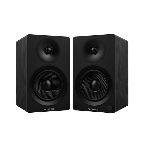 """Fluance Ai40 Powered Two-Way 5"""" 2.0 Bookshelf Speakers with Class D Amplifier for Turntable, PC, HDTV & Bluetooth Music"""