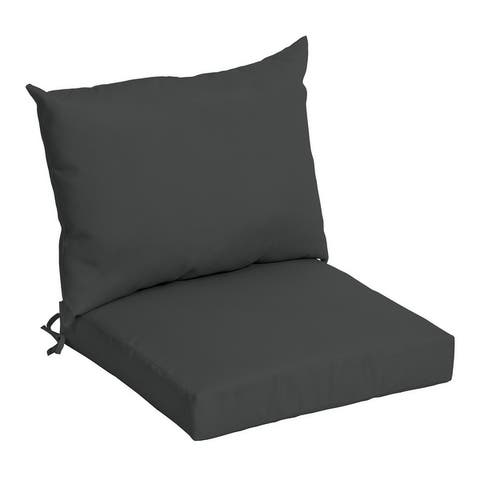 Arden Selections Acrylic Outdoor 21 x 21 in. Dining Chair Cushion Set