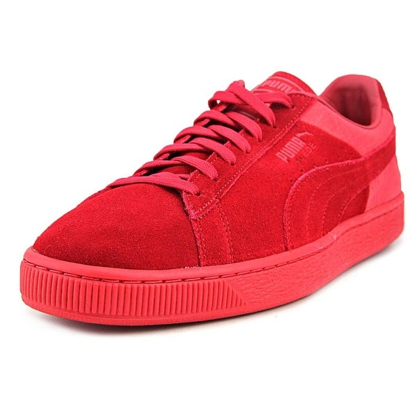 Puma Suede Classic Casual Emboss Men Round Toe Suede Red Sneakers