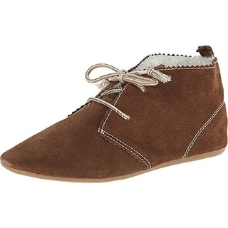 Roxy Womens Montauk Loafers Suede Faux Fur Lined