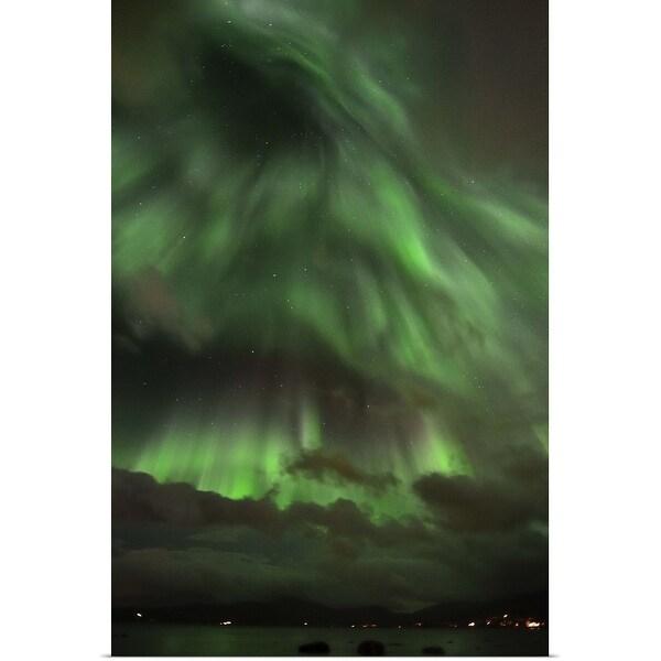 """Aurora Borealis in Troms, Norway."" Poster Print"