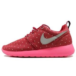 Nike Grade-School Rosherun Print Dark Red/Metallic Silver-Pink Power-White 677784-606