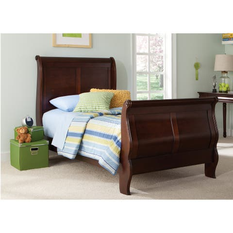 Carriage Court Cherry Louis Phillippe Sleigh Bed