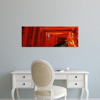 Easy Art Prints Panoramic Images's 'Torii gates of a shrine, Fushimi Inari