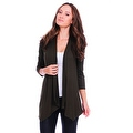 Simply Ravishing Women's Basic 3/4 Sleeve Open Cardigan (Size: Small-5X) - Thumbnail 5
