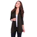 Simply Ravishing Women's Basic 3/4 Sleeve Open Cardigan (Size: Small-5X) - Thumbnail 5