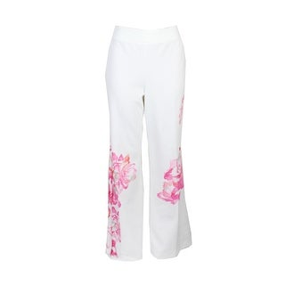 Inc International Concepts Ivory Peony Floral-Print Trousers - 6