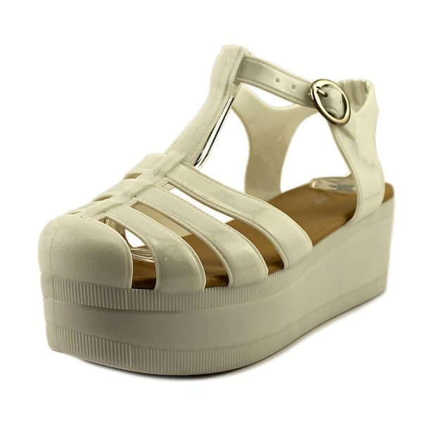 Wanted Jellypop Women Open Toe Synthetic White Platform Sandal