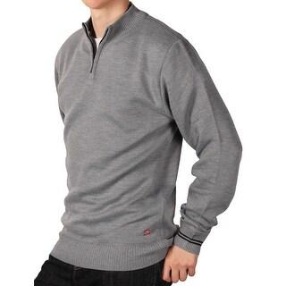 Ecko Unltd. Young Men's Solid 1/4 ip Sweater