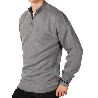 Ecko Unltd. Young Men's Solid 1/4 ip Sweater