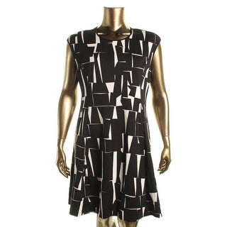 Vince Camuto Womens Printed Cap Sleeve Wear to Work Dress