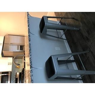 Carbon Loft Tabouret 30 Inch Padded Metal Barstools Set