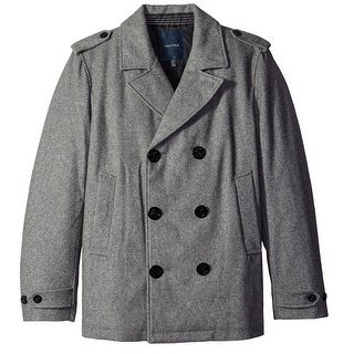 Nautica NEW Gray Mens Size XL Double Breasted Wool Blend Peacoat