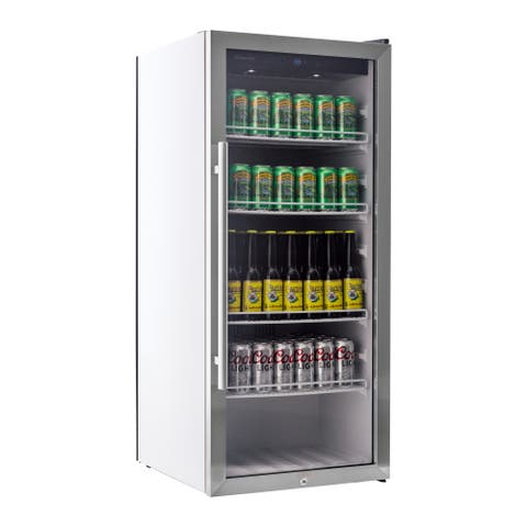 "EdgeStar VBR240 22"" Wide 8.6 Cu. Ft. Commercial Beverage Merchandiser with Temperature Alarm - Stainless Steel"