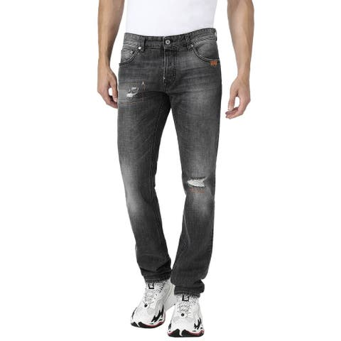 Just Cavalli Mens Tiger Jeans With A Just Fit 32 Black
