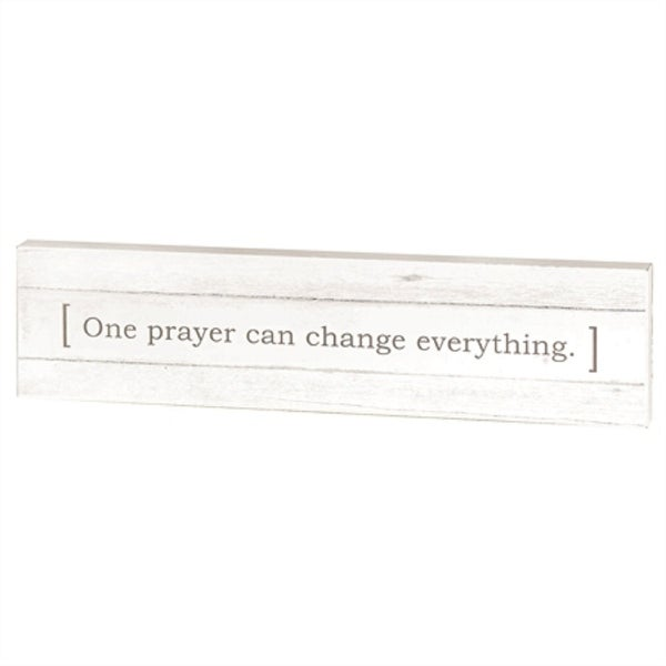 "16"" Cream White and Black Contemporary Religious Quotes Printed Rectangular Wall Plaque - N/A"