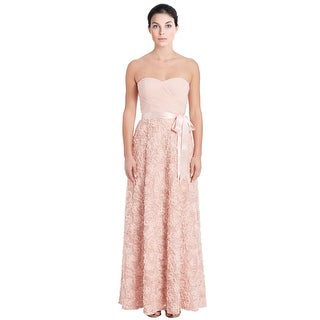 Aidan by Aidan Mattox Embroidered Ruched Strapless Evening Gown Dress - 8