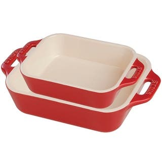 Staub Ceramic 2-pc Rectangular Baking Dish Set|https://ak1.ostkcdn.com/images/products/is/images/direct/f02f1d06215fc72f3447248f5c7b8b92479efe13/Staub-Ceramic-2-pc-Rectangular-Baking-Dish-Set.jpg?impolicy=medium