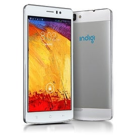 Indigi® NEW 2016 3G GSM+CDMA Factory Unlocked V19 5.5inch HD SmartPhone + Android 4.4 KitKat + Dual-Core + Dual-Sim (White)