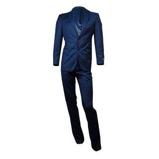 Lauren Ralph Lauren Men's 2PC Striped Suit (38X32, Blue) - 38x32