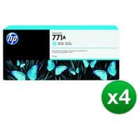 HP 771A 775-ml Light Cyan DesignJet Ink Cartridge (B6Y20A) (4-Pack)