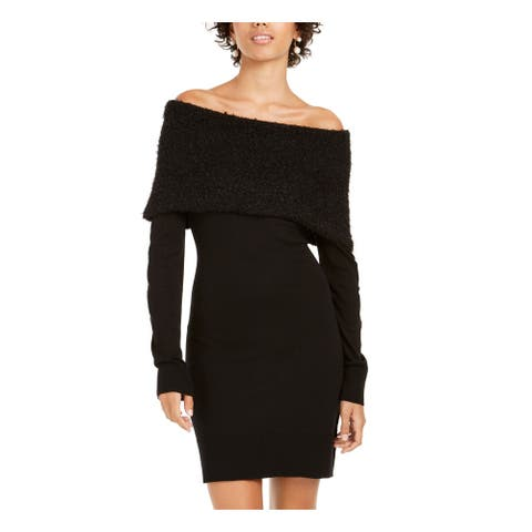 BCX Black Long Sleeve Above The Knee Dress XS