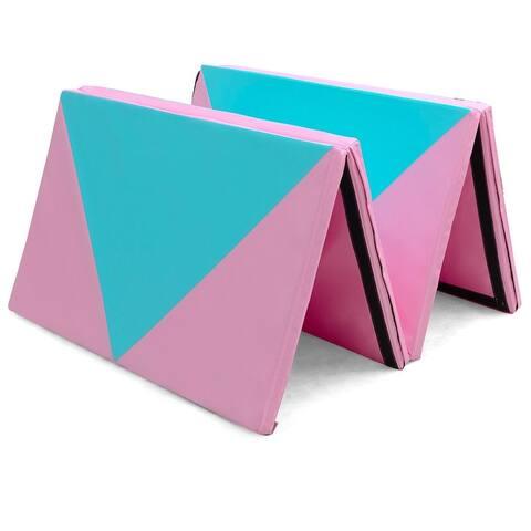 """4' x 10' x 2"""" Folding Portable Exercise Gymnastics Mat"""