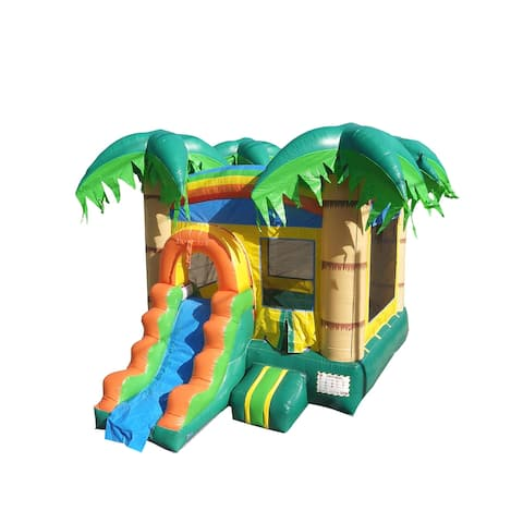 Commercial 12' x 18' Bounce House with Water Slide and Air Blower