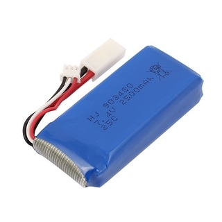 DC 7.4V 2500mAh Rechargable Lithium Battery Pack Blue w White Connector