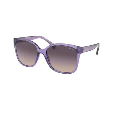 Ralph RA5268 578236 56 Shiny Transparent Lilac Woman Square Sunglasses