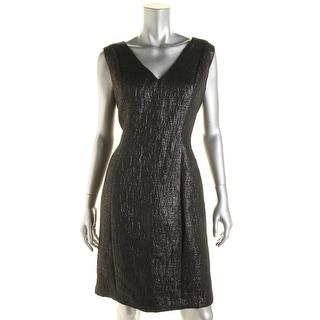 B Michael Womens Cocktail Dress Metallic V-Neck