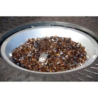 Fire Sense 62363 10 lbs. Bag of Decorative Reflective Fire Glass - burnt bronze - N/A