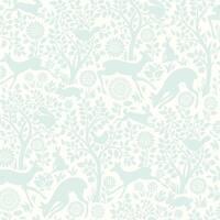 Brewster HAS01234 Anahi Aqua Forest Fauna Wallpaper