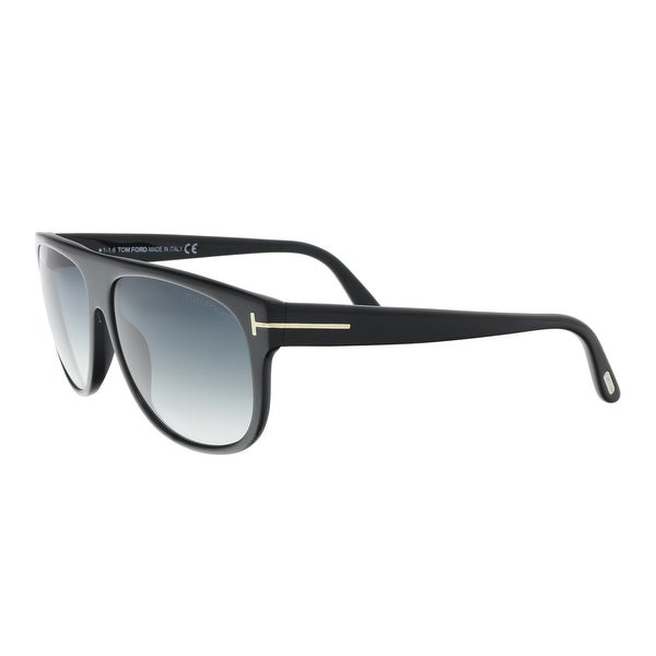 390f2c75c5350 Shop Tom Ford FT0375 S 02N Kristen Black Rectangle Sunglasses - 59 ...