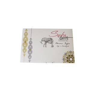 Sobe Tatts Gold Multi Henna Sofia Temporary Metallic Tattoos OS