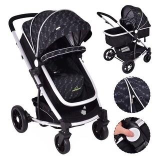 Costway 2 In1 Foldable Baby Stroller Kids Travel Newborn Infant Buggy Pushchair Black
