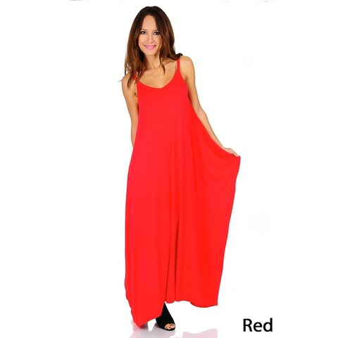 Simply Ravishing Women's Maxi Boho Harem Spaghetti Strap Dress (Size: Small - 3X)