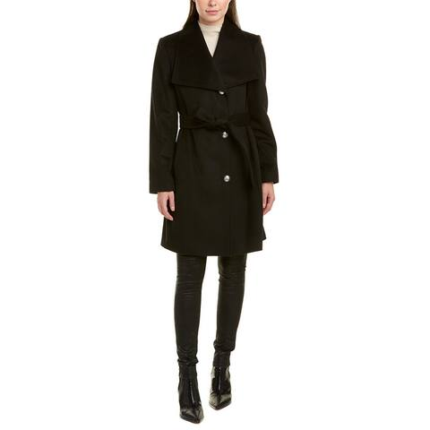 Vince Camuto Belted Wool-Blend Coat