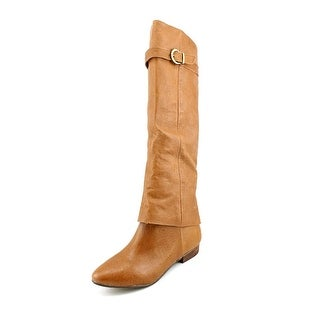 Chinese Laundry Set In Stone Round Toe Leather Knee High Boot