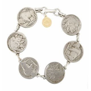 Women's Heads & Tails Nickel Bracelet|https://ak1.ostkcdn.com/images/products/is/images/direct/f03c1d6253a3c957cb0f3fb4eeb90ef8f764d920/Women%27s-Heads-%26-Tails-Nickel-Bracelet.jpg?impolicy=medium