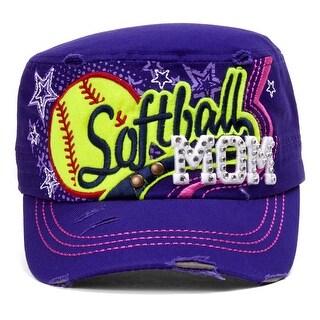 TopHeadwear Softball Mom Distressed Adjustable Cadet Cap