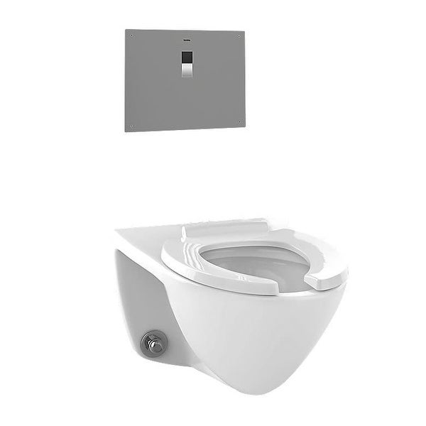 Shop Toto Ct708ev Flushometer Elongated 1 28 Gpf Toilet