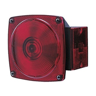 Peterson M440 Square Trailer Tail Light - Right Side - Passe - Black