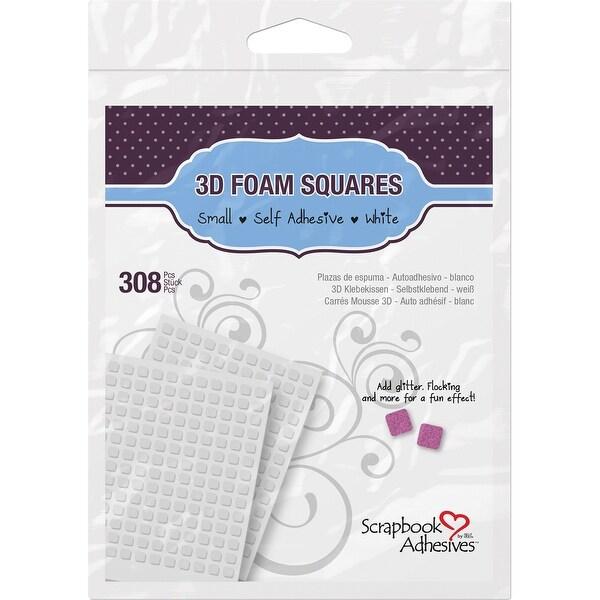 "Scrapbook Adhesives 3D Self-Adhesive Foam Squares 308/Pkg-White, .25""X.25"" - White"